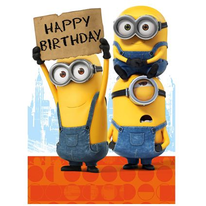 Official Minion Birthday Card available direct from Publishers Danilo.com with Free UK Delivery at https://www.danilo.com/Shop/Cards-and-Wrap/Minion-Movie-Cards