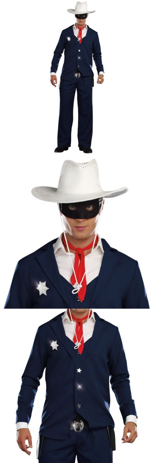 Men Costumes: Lone Ranger Costume Adult Cowboy Halloween Fancy Dress -> BUY IT NOW ONLY: $36.89 on eBay!