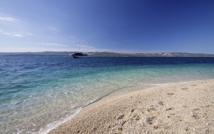 Zlatni Rat-stranden i Bol, Brac, Kroatien. Du kan læse mere om Kroatien her: www.apollorejser.dk/rejser/europa/kroatien/brac