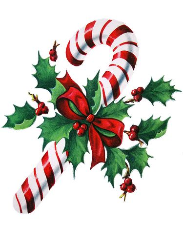 .. candy cane and holly graphic, via My Vintage Mending.