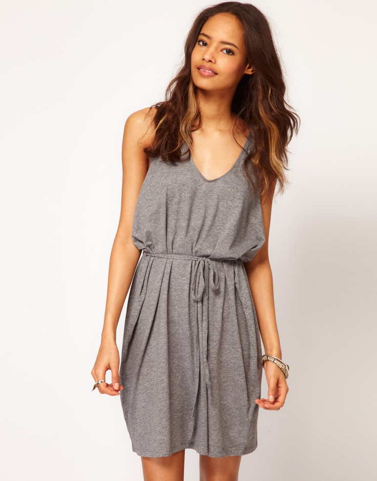 Slouchy Dress with Twisted Racer Back / ASOS