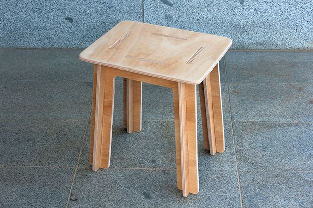 Simple Knock Down Stool Made From Plywood Flat Pack