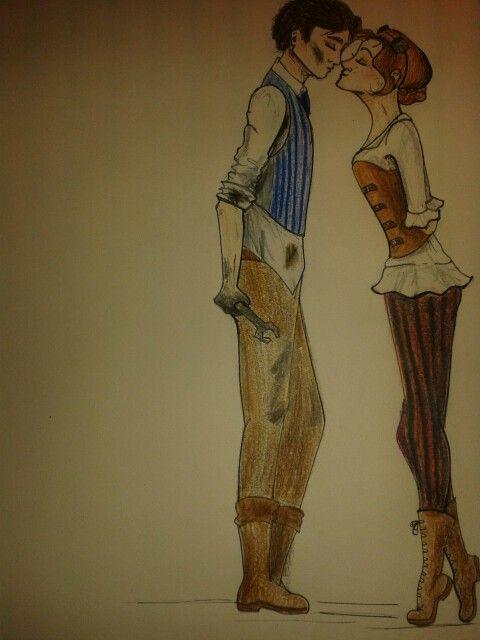 Steampunk love sketch