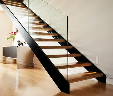 Open Tread Staircase Home Design Decorating And Renovation Ideas On Houzz Australia Staircases In 2019 Escaleras De Desván