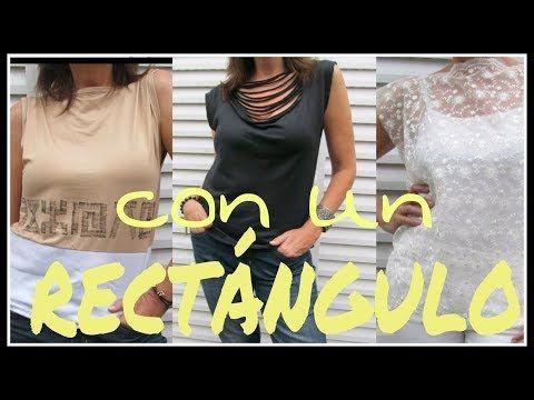 Cómo hacer una remera con un RECTÁNGULO - Fabiana Marquesini - 19 - YouTube