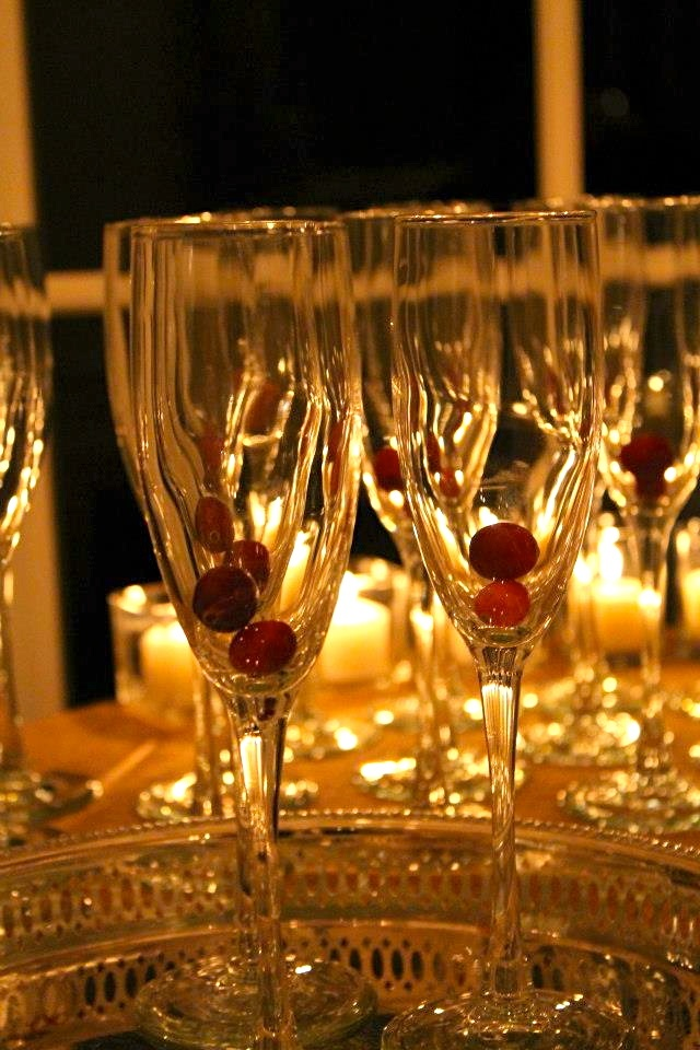 Champagne with Frozen Cranberries, By Tim LaBant www.timlabantevents.com