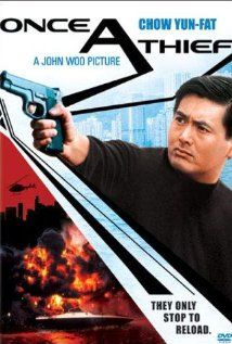"""Once A Thief (aka Zong Heng Si Hai)"" (dir. John Woo, Cantonese Language, 1991) --- A romantic and action packed story of three best friends (Chow Yun-Fat, Leslie Cheung, and Cherie Chung), a group of high end art thieves, who come into trouble when a love-triangle forms between them."