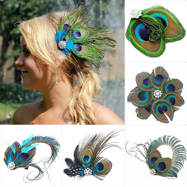 Cheap wear hair band, Buy Quality hair clip for children directly from China hair loss prevention treatment Suppliers:  Women Beauty Cute Feather Rhinestone Peacock Hair Pin Hair Clip Party Wedding Wearing gift Feature: 100% brand new and