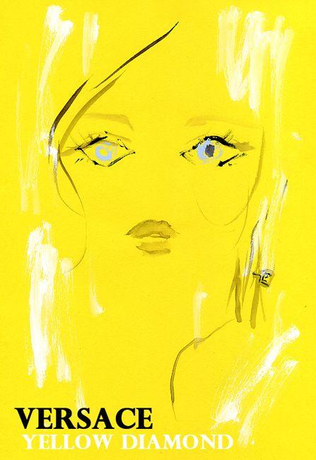 """Abbey Lee Kershaw: Versace ""Yellow Diamond"" Fragrance Campaign"" She looks like diamond! ヴェルサーチの 新フレグランス""Yellow Diamond"" モデルはアビー・リー・カーショウ。彼女自身がダイアモンドのよう☆"