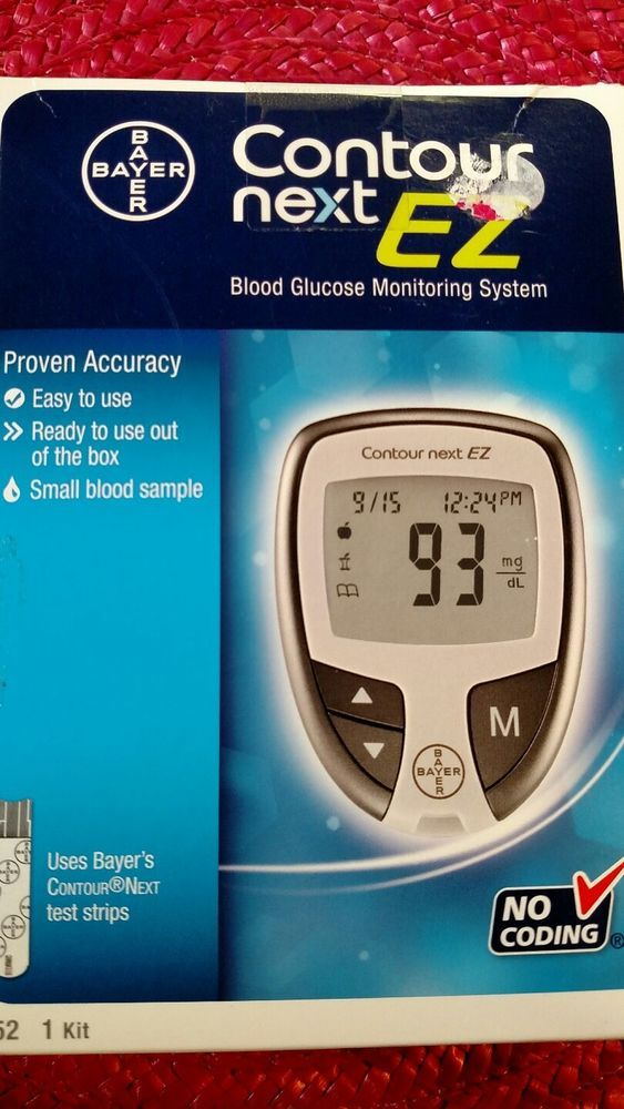 Bayer Contour Next EZ Blood Glucose Monitor Test System Diabetes Meter #Bayer