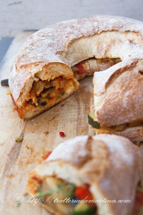 Trattoria da Martina: Purgatorio alla calabrese ovvero corona di pane alle verdure
