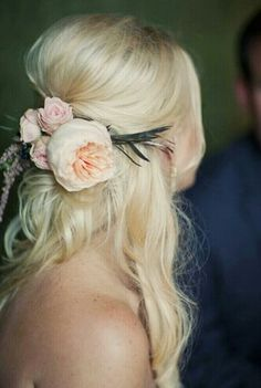 Really like these flowers and the bump and the placement of the flower comb   floral hair comb - Google Search