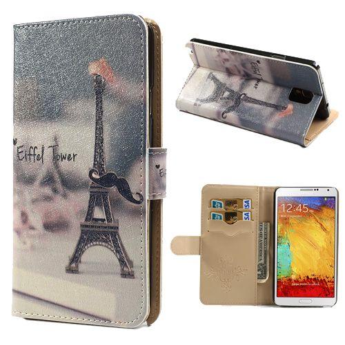 Πύργος του Eiffel θήκη πορτοφόλι για Samsung Galaxy Note 3 N9005 N9002 N9000