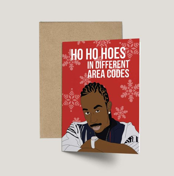 Ludacris Ho Ho Hoes Funny Christmas Card by GREETYOSELF on Etsy