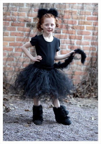 Child Tutu Black Cat Costume - Girls Kitten Costumes size S/--like the boots