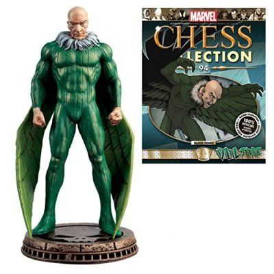 Marvel Amazing Spider-Man Vulture Black Pawn Chess Piece with Collector Magazine #94