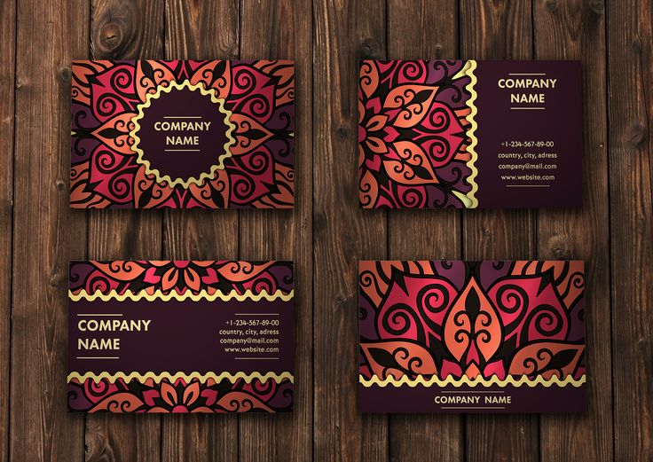 Mandala pattern business card 01 by Maria_So on Creative Market