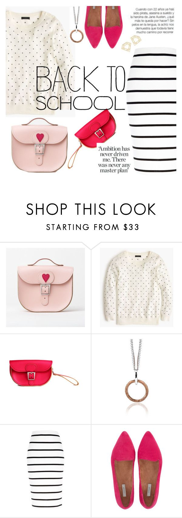 """""""back to school"""" by thepommier ❤ liked on Polyvore featuring Brit-Stitch, J.Crew, River Island and Jigsaw"""