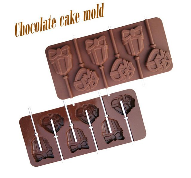 1PCS Food Grade Silicone Material, Love Gift  Shape For Chocolate Lollipop Mold, Cake Tools, Cookie , Jelly, Ice Mold L129