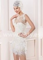 Vestido de novia Corto Manu Garcia 2014 MG0905C