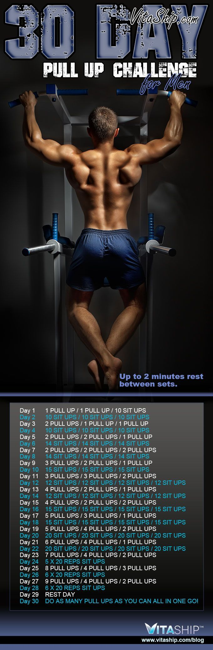 The 30-Day Pull Up Challenge for Men - Get Ripped... Get Hot Workout! With optimal health often comes clarity of thought. Click now to visit my blog for your free fitness solutions!