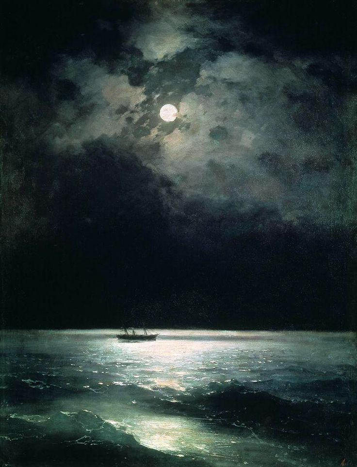 Ivan Aivazovsky The Black Sea at night