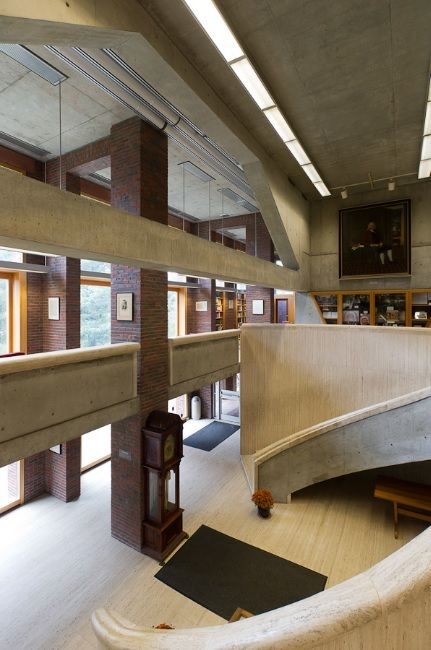 Library at Phillips Exeter Academy, Exeter NH (1965-71) | Louis Kahn | Photo © Xavier de Jauréguiberry