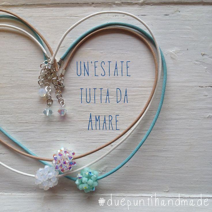 #duepuntihandmade #love #summer #necklaces con sferette #swarovski #handmade #DIY