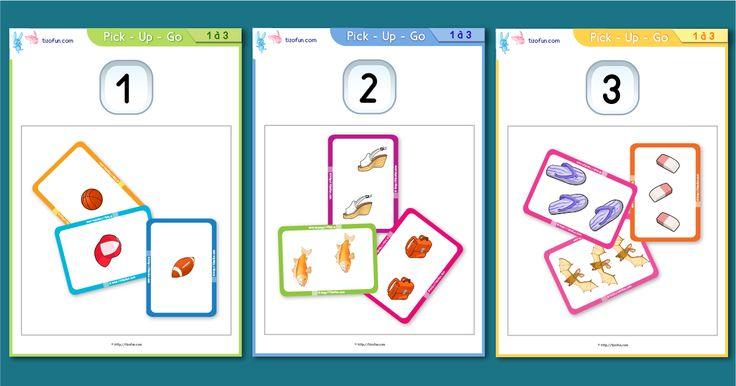 Jeux pour apprendre à compter de 1 à 3, Maths PS | Dénombrement de 1 à 3, Mathématiques maternelle