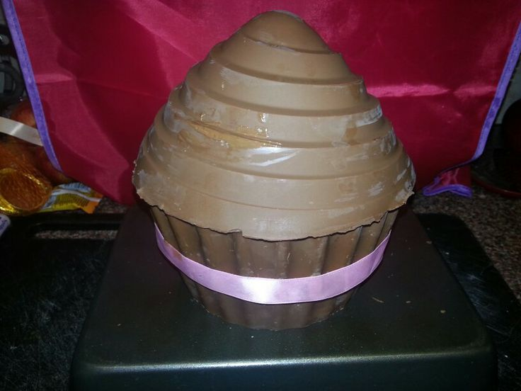 chocolate giant cupcake shell