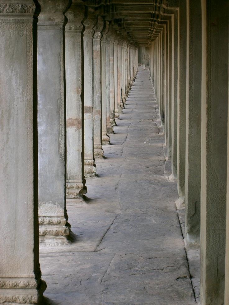 Columns in Ankhor Wat, Cambodia