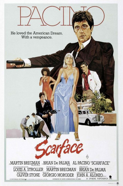 Scarface, 1983  http://film-on-film.tumblr.com/