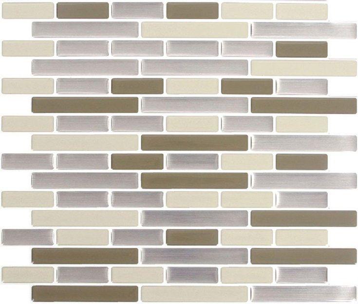 Peel U0026 Impress 24060 Vinyl Adhesive Wall Tile, Desert Sand Oblong, ...