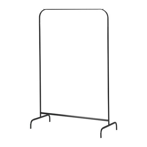 For the bedroom instead of draping clothes over the furniture - MULIG Clothes rack - black  - IKEA $12.99