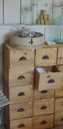 I love all the little draws, hiding the clutter in a semi-organised way :-)