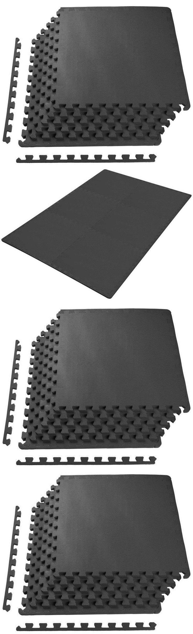Rubber floor mat jigsaw - Exercise Mats 44079 Puzzle Mat Workout Gym Fitness Floor Exercise Interlocking Tiles Rubber Foam New