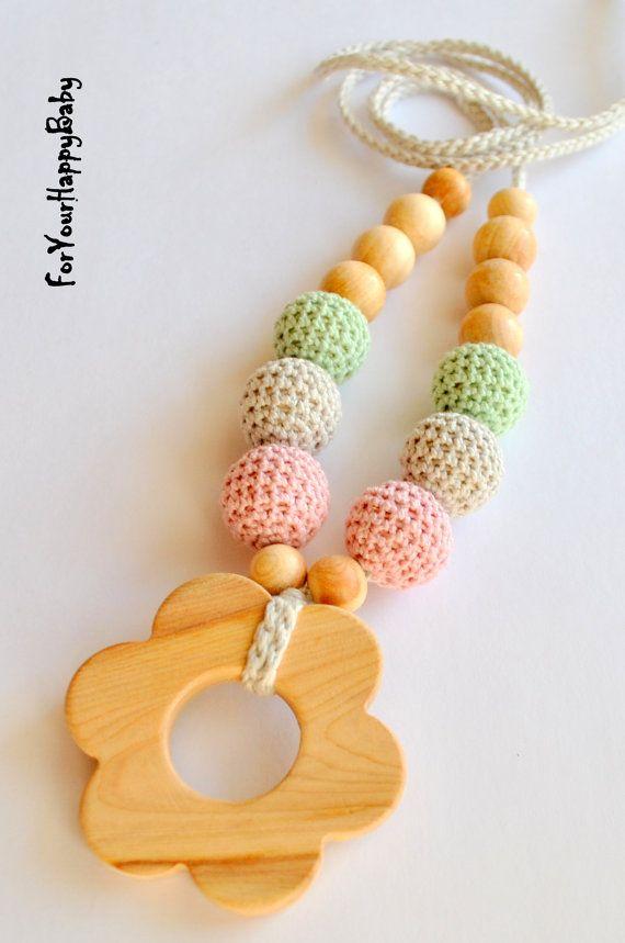 Juniper flower/Nursing necklace/ Breastfeeding by ForYourHappyBaby