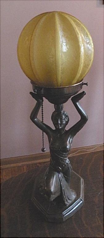 lamp, 1920s deco, egyptian revival