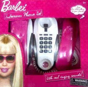 70.000 Mainan intercom barbie. Terdiri dari 2 telpon dan kabel panjang untuk berkomunikasi. Volume 1kg