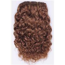 Light auburn # 10 curly mohair weft coarse 7-8″ x2…