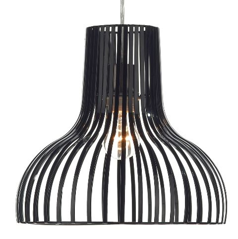 The bombay from dar lighting is a simple designed basket design black painted metal non electric