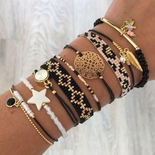 Beads-armbandje 'Black Diamonds' - Mint15 More                                                                                                                                                     More