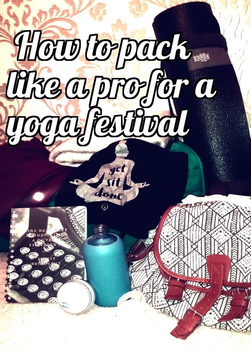 Find out the must-haves for a yoga festival! #yogaeverywhere #travel