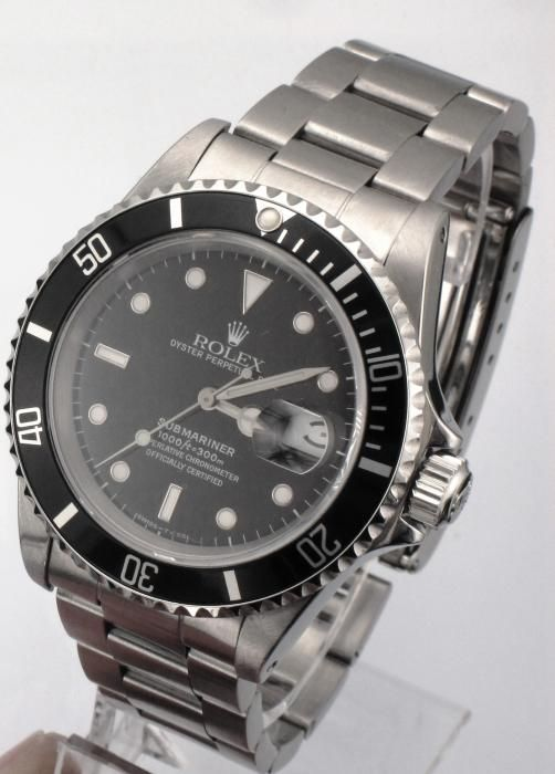 STEEL ROLEX SUBMARINER 16610 OYSTER PERPETUAL DATE WATCH - Attenborough Pawnbrokers & Jewellers