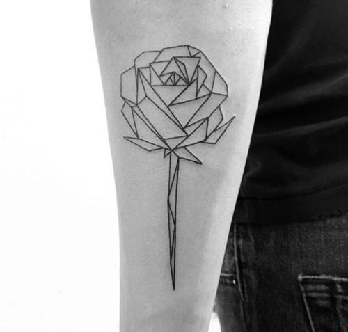 geometric rose tattoo - Cerca con Google