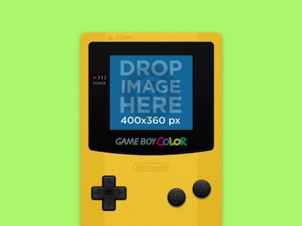 New Free Mockup! Yellow Game Boy Color Try it here: https://placeit.net/stages/videogame-mockup-of-a-yellow-game-boy-color