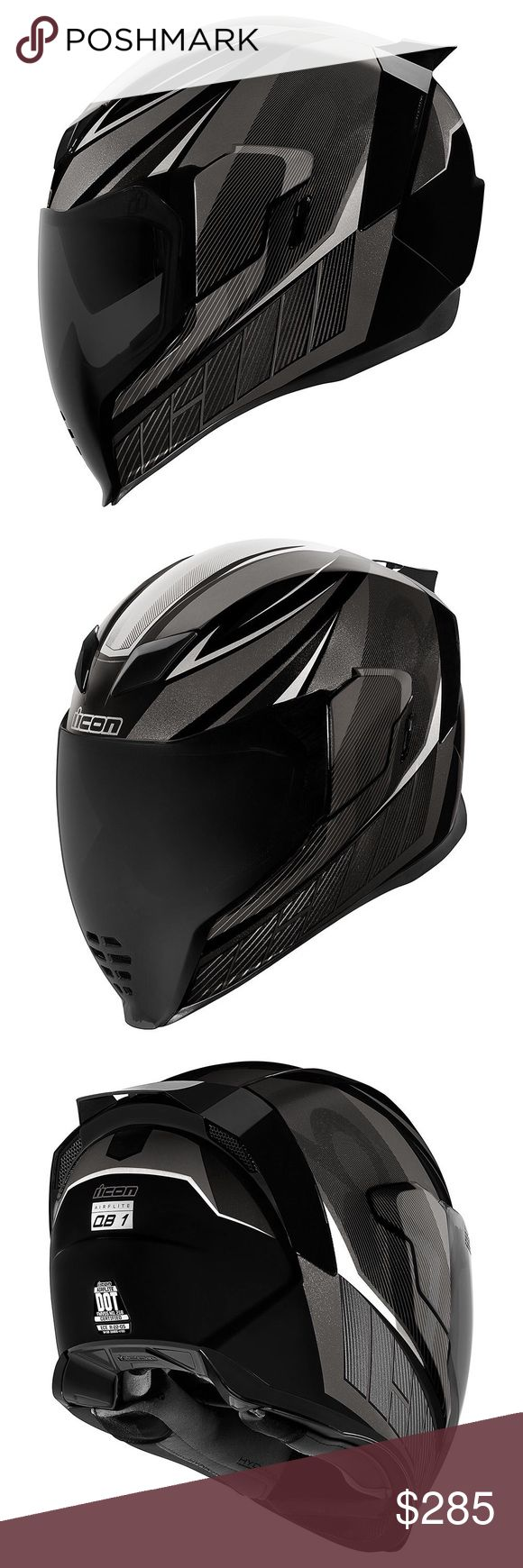 Icon Airflite QB1 motorcycle helmet new WORLD STANDARD
