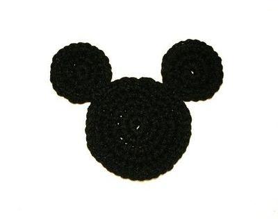 Crochet Mickey Mouse Ears Coaster - Tutorial: Ears Coaster, Crochet Ideas, Craft, Crochet Mickey Mouse, Bays, Crochet Patterns, Mickey Mouse Ears, Wall Hook