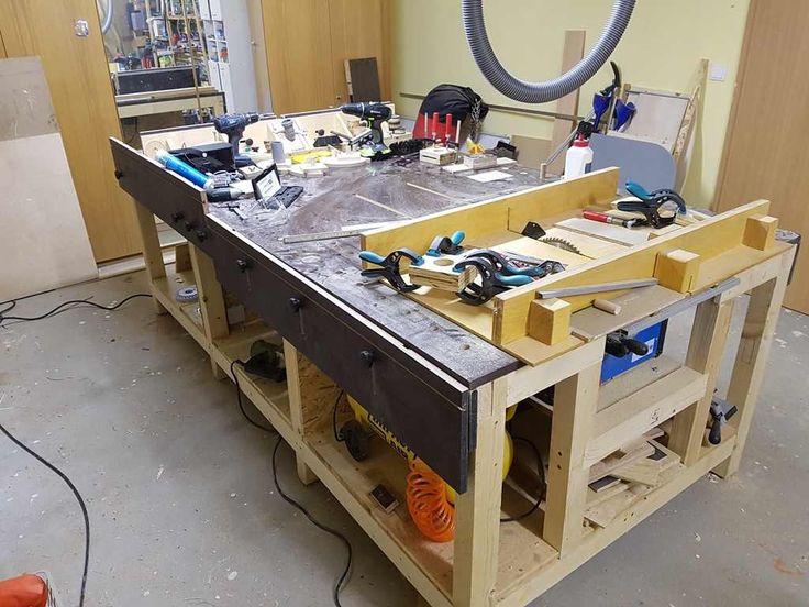 werkbank multifunktionstisch meine erste bauanleitung zum 1 2 pinterest. Black Bedroom Furniture Sets. Home Design Ideas
