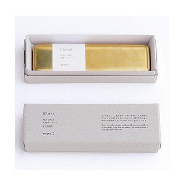 Brass Pen Case Genuine Traveler's Notebook Midori Desktop office accessory BIRTHDAY CHRISTMAS Gift Kris Kingle Idea by ZigZakka on Etsy
